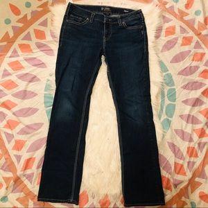 Silver Aiko Classic Stretch Mid Slim Boot Jean